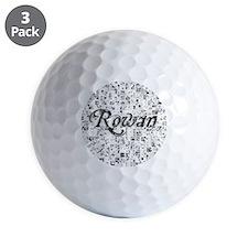 Rowan, Matrix, Abstract Art Golf Ball