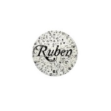 Ruben, Matrix, Abstract Art Mini Button