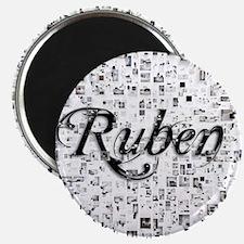 Ruben, Matrix, Abstract Art Magnet