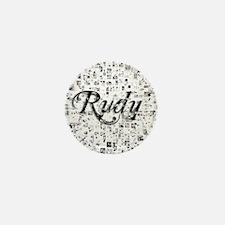 Rudy, Matrix, Abstract Art Mini Button