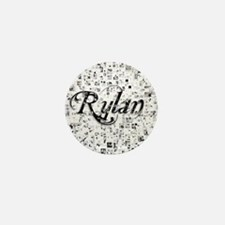 Rylan, Matrix, Abstract Art Mini Button