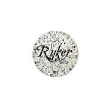 Ryker, Matrix, Abstract Art Mini Button