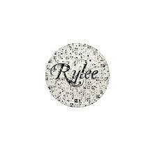 Rylee, Matrix, Abstract Art Mini Button