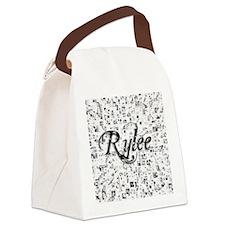 Rylee, Matrix, Abstract Art Canvas Lunch Bag