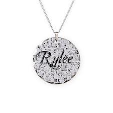 Rylee, Matrix, Abstract Art Necklace