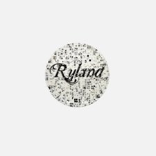 Ryland, Matrix, Abstract Art Mini Button