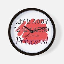 Daddy Hero/Princess Wall Clock