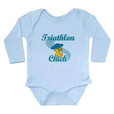 Triathlon Chick #3 Long Sleeve Infant Bodysuit