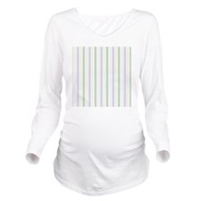 Lilac Stripe Shower  Long Sleeve Maternity T-Shirt