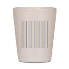 Lilac Stripe Shower curtain Shot Glass