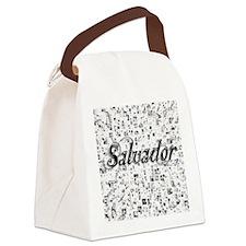 Salvador, Matrix, Abstract Art Canvas Lunch Bag
