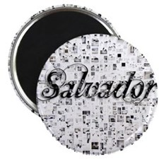 Salvador, Matrix, Abstract Art Magnet