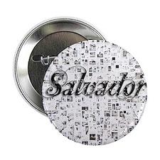 """Salvador, Matrix, Abstract Art 2.25"""" Button"""