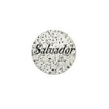 Salvador, Matrix, Abstract Art Mini Button