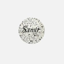 Samir, Matrix, Abstract Art Mini Button