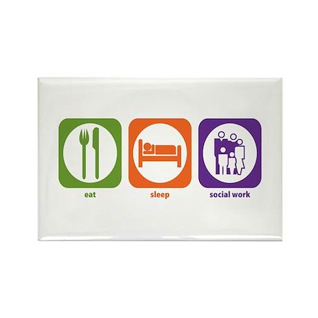 Eat Sleep Social Work Rectangle Magnet (10 pack)