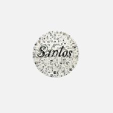Santos, Matrix, Abstract Art Mini Button