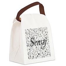 Semaj, Matrix, Abstract Art Canvas Lunch Bag
