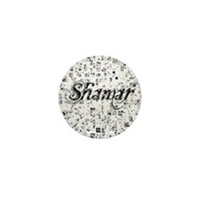 Shamar, Matrix, Abstract Art Mini Button