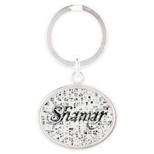 Shamar, Matrix, Abstract Art Oval Keychain