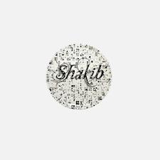 Shakib, Matrix, Abstract Art Mini Button