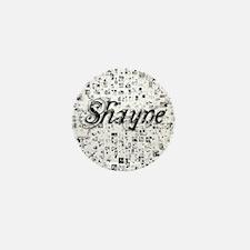 Shayne, Matrix, Abstract Art Mini Button