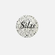 Silas, Matrix, Abstract Art Mini Button