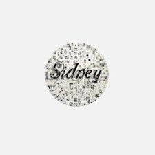 Sidney, Matrix, Abstract Art Mini Button