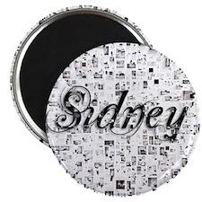Sidney, Matrix, Abstract Art Magnet
