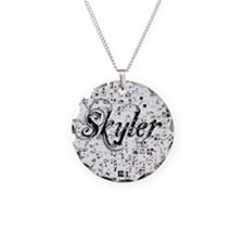Skyler, Matrix, Abstract Art Necklace