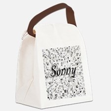 Sonny, Matrix, Abstract Art Canvas Lunch Bag
