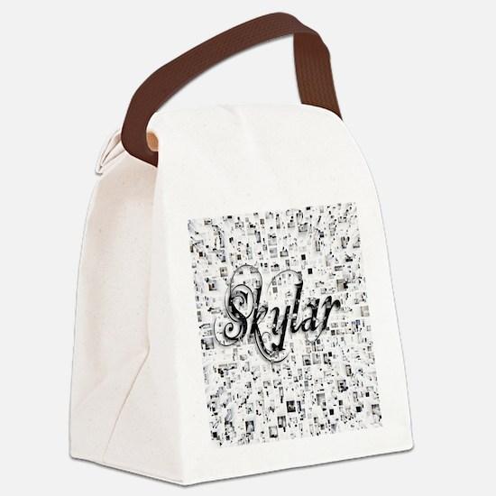 Skylar, Matrix, Abstract Art Canvas Lunch Bag