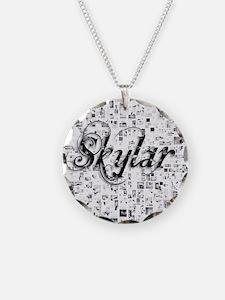 Skylar, Matrix, Abstract Art Necklace