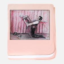 Ballet, Dancers, art baby blanket