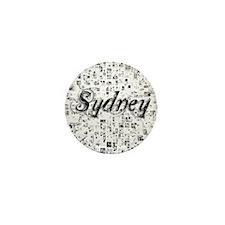 Sydney, Matrix, Abstract Art Mini Button