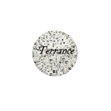 Terrance, Matrix, Abstract Art Mini Button