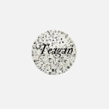 Teagan, Matrix, Abstract Art Mini Button