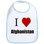 I Love Afghanistan Bib