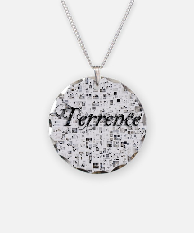 Terrence, Matrix, Abstract A Necklace Circle Charm