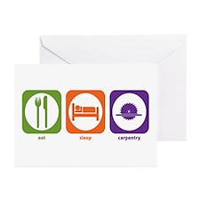 Eat Sleep Carpentry Greeting Cards (Pk of 10)