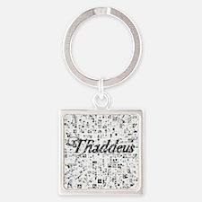 Thaddeus, Matrix, Abstract Art Square Keychain