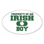 Property of an Irish Boy Oval Sticker