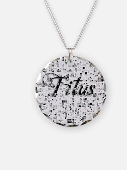 Titus, Matrix, Abstract Art Necklace