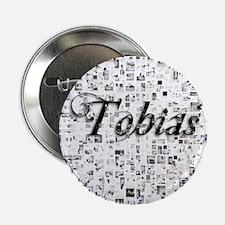 """Tobias, Matrix, Abstract Art 2.25"""" Button"""