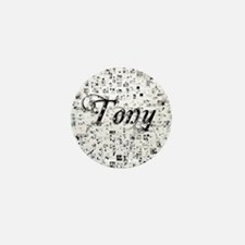 Tony, Matrix, Abstract Art Mini Button