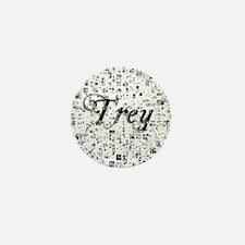 Trey, Matrix, Abstract Art Mini Button