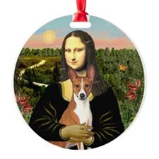 Mona Lisa - Basenji Ornament