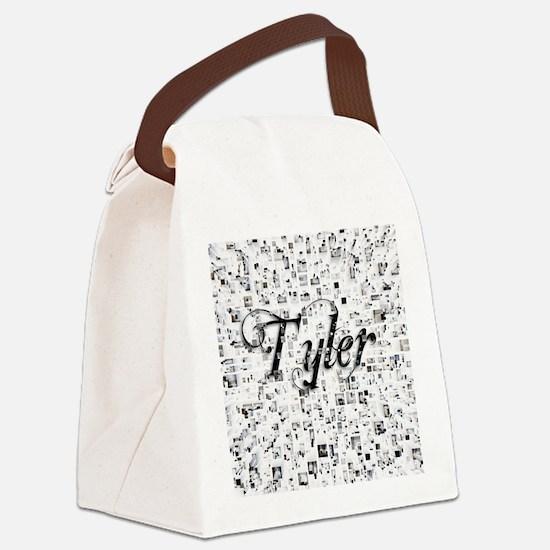 Tyler, Matrix, Abstract Art Canvas Lunch Bag