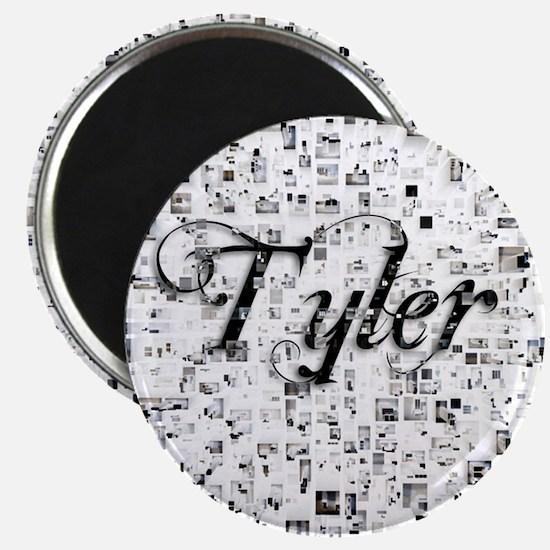 Tyler, Matrix, Abstract Art Magnet