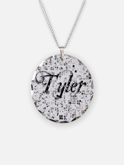 Tyler, Matrix, Abstract Art Necklace